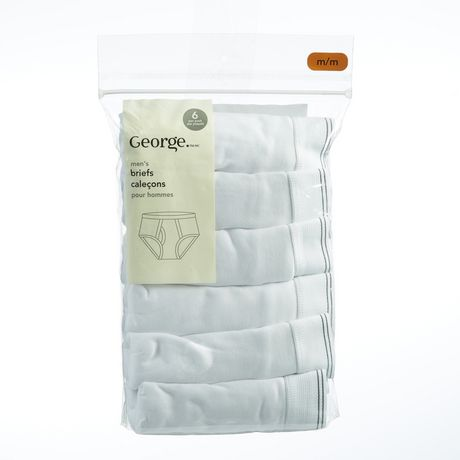 George Men's Cotton Briefs, 6 Pack by George