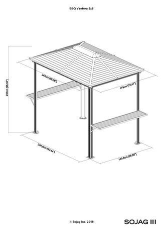 Sojag BBQ Shelter Ventura - image 5 of 6