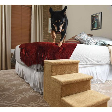 Prevue Pet Carpeted pet Steps Small Beige - image 1 of 1