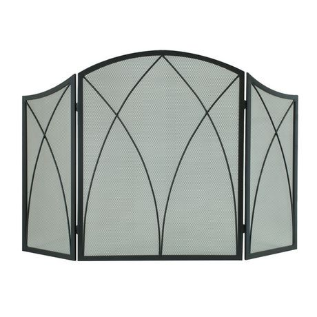 en screen panel arch black l rona fireplace