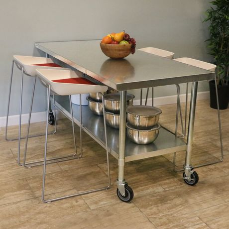 Excalibur X Gauge Stainless Steel Work Table With - Stainless steel table 18 x 24