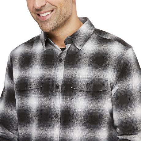 George Men's Flannel Shirt - image 4 of 6