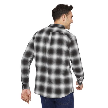 George Men's Flannel Shirt - image 3 of 6
