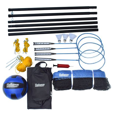 Hathaway Volleyball/Badminton Complete Combo Set - image 2 of 5