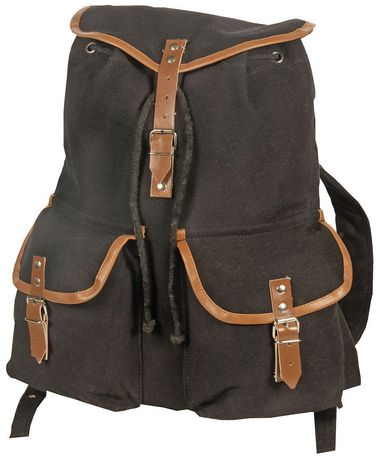 World Famous Sales Of Canada Inc World Famous Vintage Camper Rucksack - Black Black
