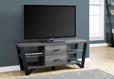 Monarch Specialties Grey TV Stand - image 1 of 3