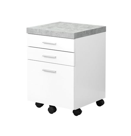 Monarch Specialties White Filing Cabinet | Walmart Canada