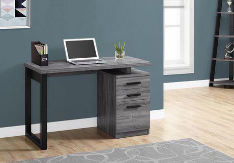 bureau d 39 ordinateur monarch specialties en gris walmart. Black Bedroom Furniture Sets. Home Design Ideas