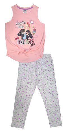 Jojo Siwa Girls 2-Piece Leggings Set Outfit