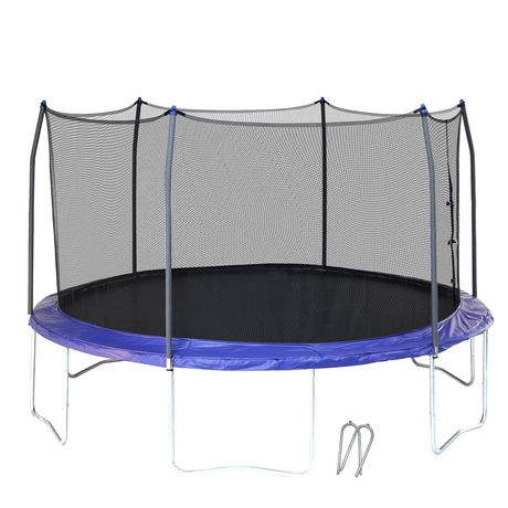 Skywalker Trampolines 14' Blue Round Trampoline And Enclosure - image 1 of 9