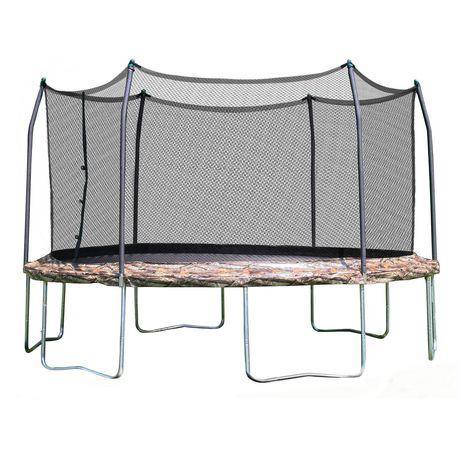 skywalker trampolines 12u0027 camo round trampoline and enclosure walmart canada
