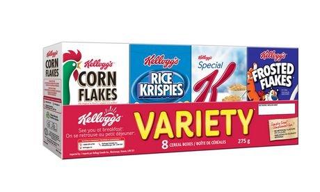 Kellogg's Breakfast Cereal Variety Pack, 8 count - image 1 of 2