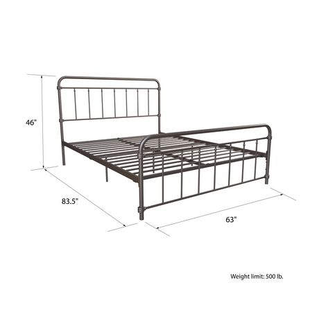Wallace Metal Bed - image 3 of 4