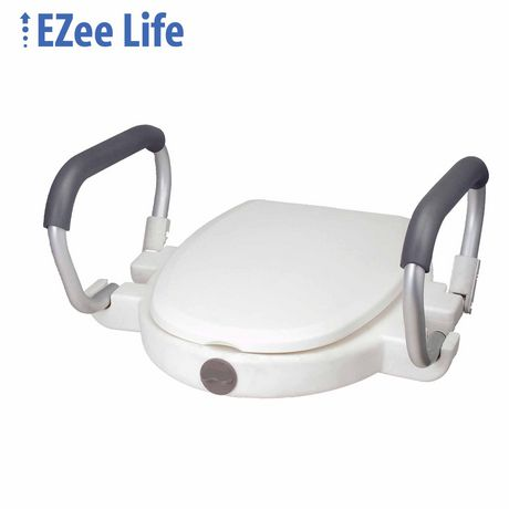 Ezee Life Raised Toilet Seat With Lid Amp Flip Back Arms