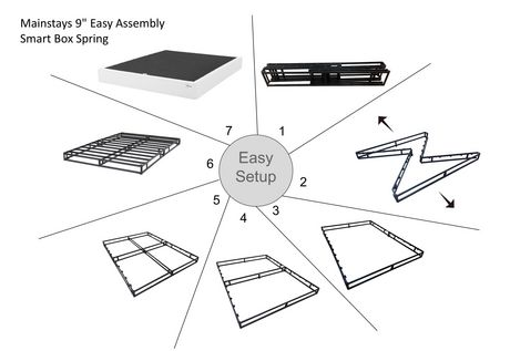 """Mainstays 9"""" Easy Assembly Smart Box Spring, Multiple Sizes - image 5 of 7"""
