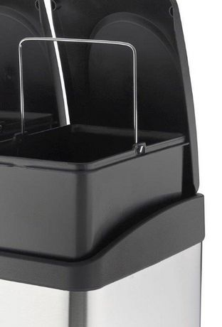 The Point Gallery Step N' Sort 60 Litre 3-Compartment Trash and Recycling Bin - image 6 of 9