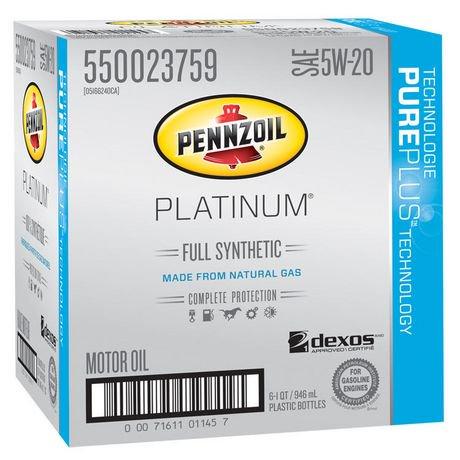 Pennzoil platinum full synthetic 5w 20 motor oil pack for Pennzoil platinum 5w20 full synthetic motor oil