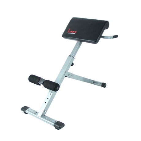 Chaise romaine de hyperextension Sunny Health & Fitness de 45 degrés - image 1 de 5