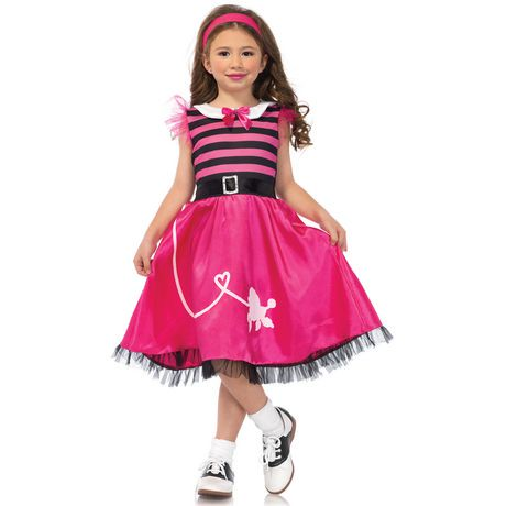 Wonderland Girls Poodle Skirt 50s Costume