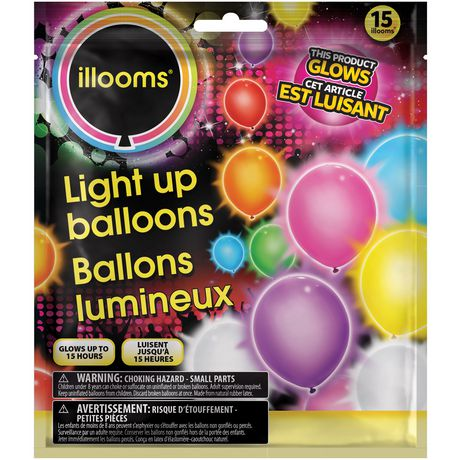 Illooms Mixed Color Led Light Up Balloons Walmart Canada