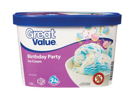 Great Value Birthday Party Ice Cream - image 1 of 2