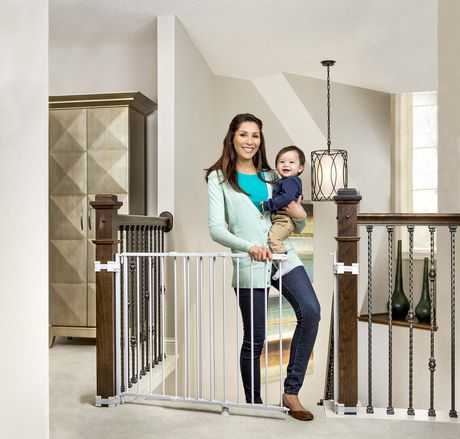 Regalo Top Of Stairs Adjustable Baby Safety Gate Walmart Canada