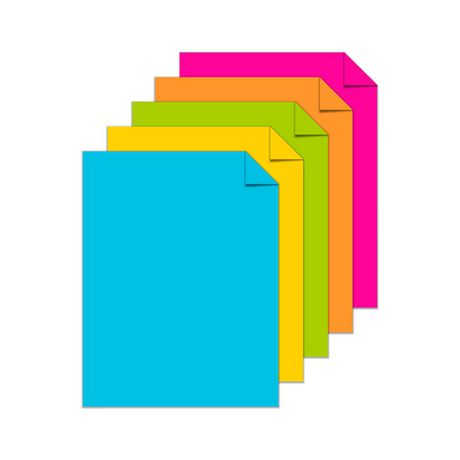 Papier cartonné coloré Astrobrights, assortiment «Éclatant» de 5 couleurs - image 2 de 4