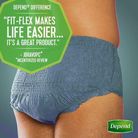 Sous-vêtement d'incontinence à absorption maximale Fit-Flex de Depend pour hommes - image 4 de 5