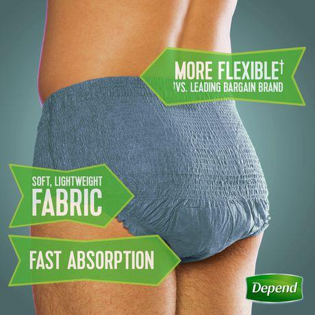 Sous-vêtement d'incontinence à absorption maximale Fit-Flex de Depend pour hommes - image 3 de 5