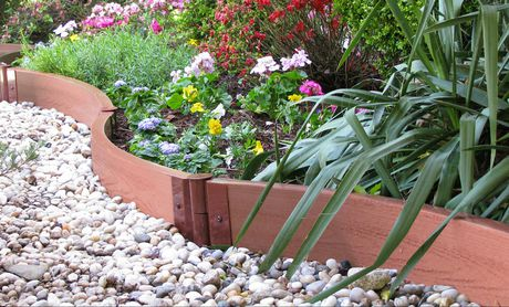 """Frame It All Tool-Free Classic Sienna Curved Landscape Edging Kit 16' – 2"""" profile - image 1 of 3"""