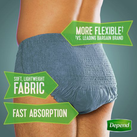 Depend Fit-Flex Incontinence Underwear for Men, Maximum Absorbency - image 2 of 4