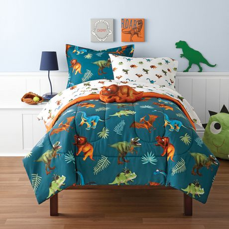 Mainstays Kids Dino Twin Bed Set