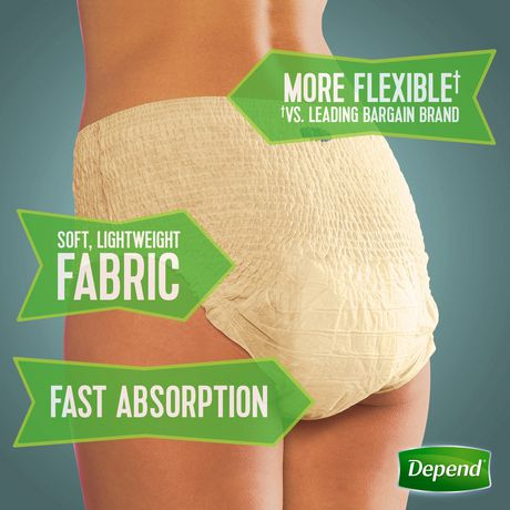 Depend Fit-Flex Incontinence Underwear for Women, Maximum Absorbency - image 2 of 4
