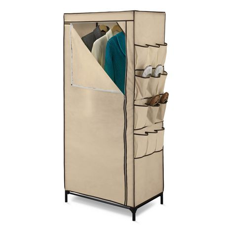 armoire de rangement avec organisateur des chaussures de 27 po de honey can do walmart canada. Black Bedroom Furniture Sets. Home Design Ideas