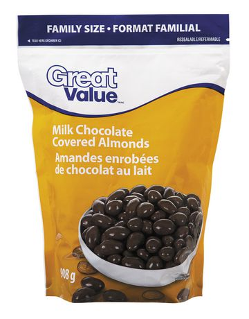 Great Value Milk Chocolate Covered Almonds Walmart Ca