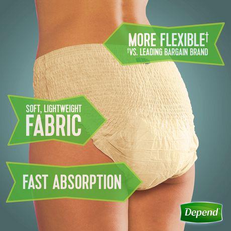 Depend Fit-Flex Women's Moderate Absorbency Underwear - image 3 of 5