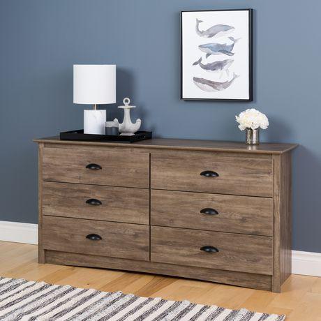 commode grise vieilli salt spring de prepac 6 tiroirs walmart canada. Black Bedroom Furniture Sets. Home Design Ideas