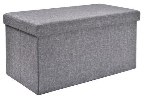 Fhe Group Red Label 30 Inch Foldable Grey Storage Bench