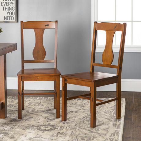 Walker Edison Dark Oak Wood Dining Chair  sc 1 st  Walmart Canada & Walker Edison Dark Oak Wood Dining Chair | Walmart Canada