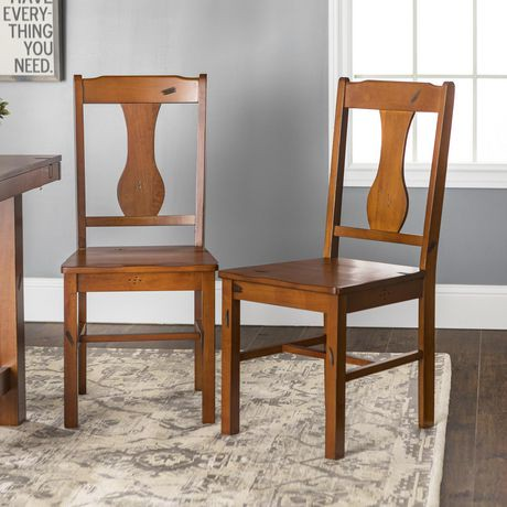 dark oak dining chairs walker edison oak wood dining chair walmart canada 6448