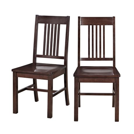 walker edison cappuccino wood dining chair walmart ca