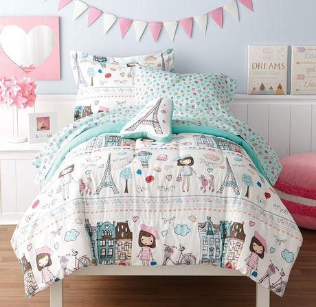Mainstays Kids Paris Bed In A Bag Bedding Set Walmart Canada