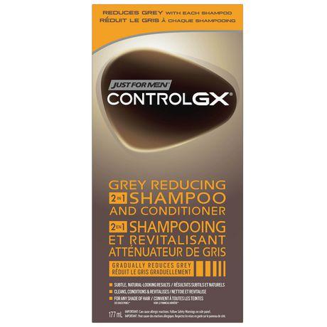 control gx shampoing et revitalisant 2 en 1 pour rduire les cheveux blancs - Shampoing Colorant Cheveux Blancs