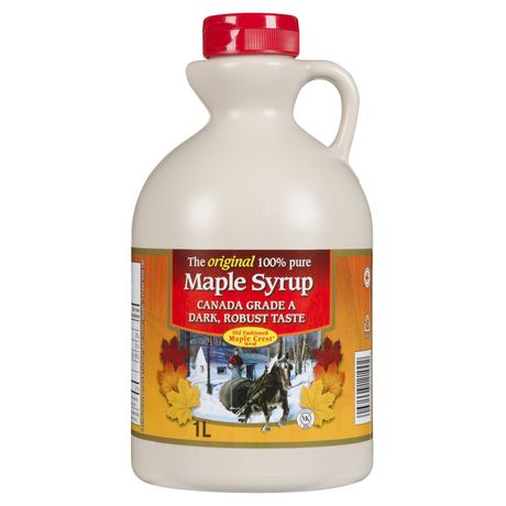 Old Fashioned Maple Crest - Canada Grade A Dark, Robust Taste - Pure Maple Syrup - image 1 of 2
