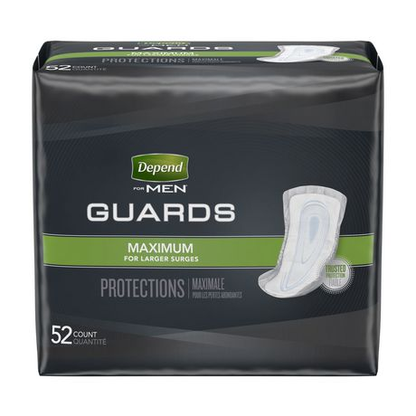 Depend Incontinence Guards for MEN, Maximum Absorbency - image 1 of 4