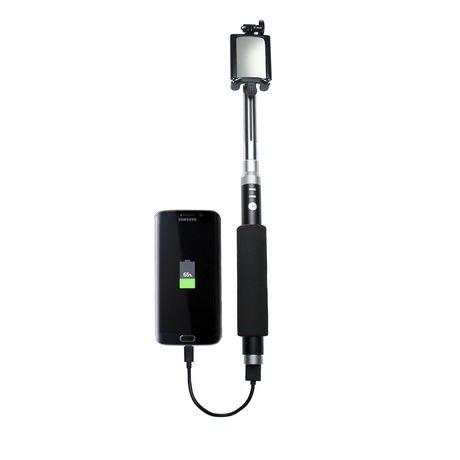 cta digital bluetooth selfie stick with built in power bank. Black Bedroom Furniture Sets. Home Design Ideas