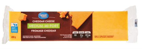 Great Value Medium Cheddar Cheese - image 1 of 3