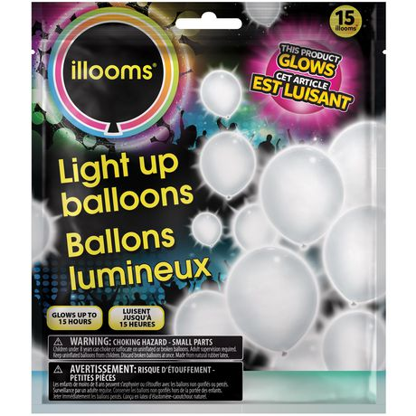 Illooms White Led Light Up Balloons Walmart Canada
