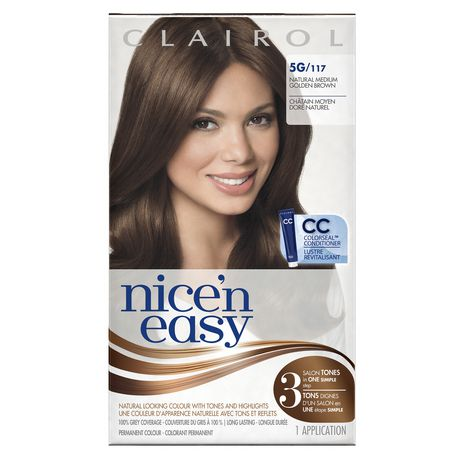 Nice n Easy Permanent Color - R5G 129G Rich Medium Golden by Clairol for Women - 1 Application Hair Color - image 1 of 2