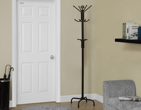 Monarch Specialties Inc Monarch Specialties Black Metal Coat Rack - image 2 of 3